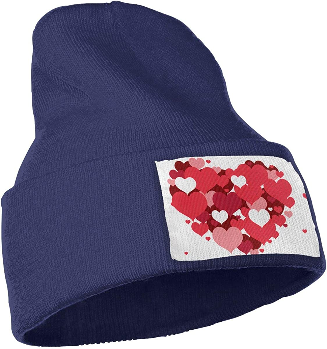 Red Love Hearts Unisex Fashion Knitted Hat Luxury Hip-Hop Cap