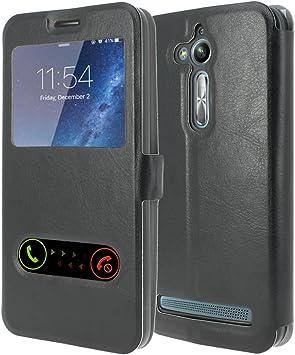 ASUS Zenfone Go ZB500KL Funda Protectora de protección Cuero [MP-ES] Cubierta de la Caja S-View Folio (Vista de Windows) para ASUS Zenfone Go ZB500KL: Amazon.es: Electrónica