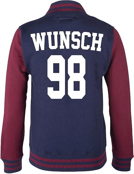 EZYshirt® Wunschname und Nummer Superstar Damen College JackeBaseball Jacke