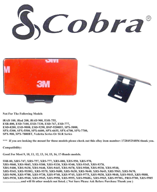 Noa Store Cobra Radar Detector Permanent Windshield Mount Good Most 9-17 Model 5558994147