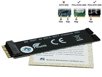 Sintech NGFF M.2 PCIe 2280 SSD de Tarjeta, Repuestos para SSD MZ de jpu128t sd6pq4 m de 128g del 2013 2014 2015 MacBook