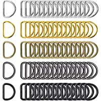 100 Pieces 1 Inch Metal D Ring Buckles D-Ring Loop for Sewing Keychains Belts and Dog Leash Hand DIY Accessories, 5…