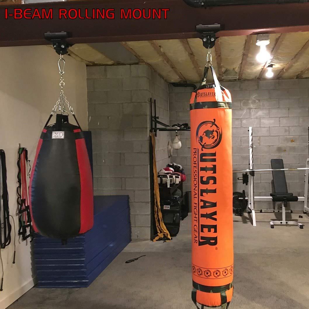 21cfc9ef06f80 Amazon.com   Firstlaw Fitness I-Beam Rolling Punching Bag Mount - (Black -  3.5