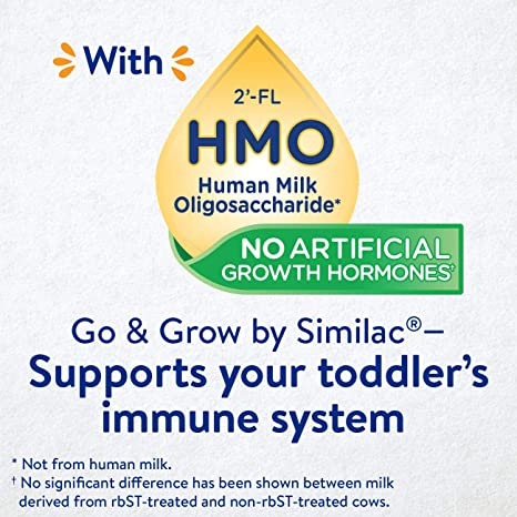 Amazon.com: Go & Grow by Similac Non-GMO Toddler Milk-Based Drink with 2-FL HMO for Immune Support, Powder Stick Packs, 17.4 g, 64 Count: Health & Personal ...