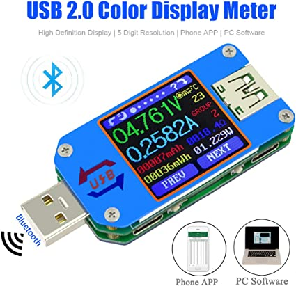 USB Voltage Step Down Phone Charger Power Meter Battery Tester Power Detector