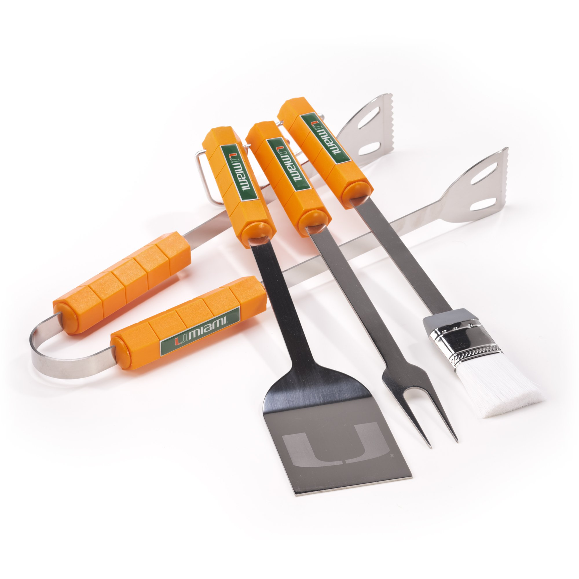 NCAA Miami Hurricanes 4 Piece Barbecue Set by BSI (Image #1)