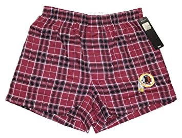 08046c07 Concepts Sport Washington Redskins NFL Roster Men's Cotton Flannel Boxer
