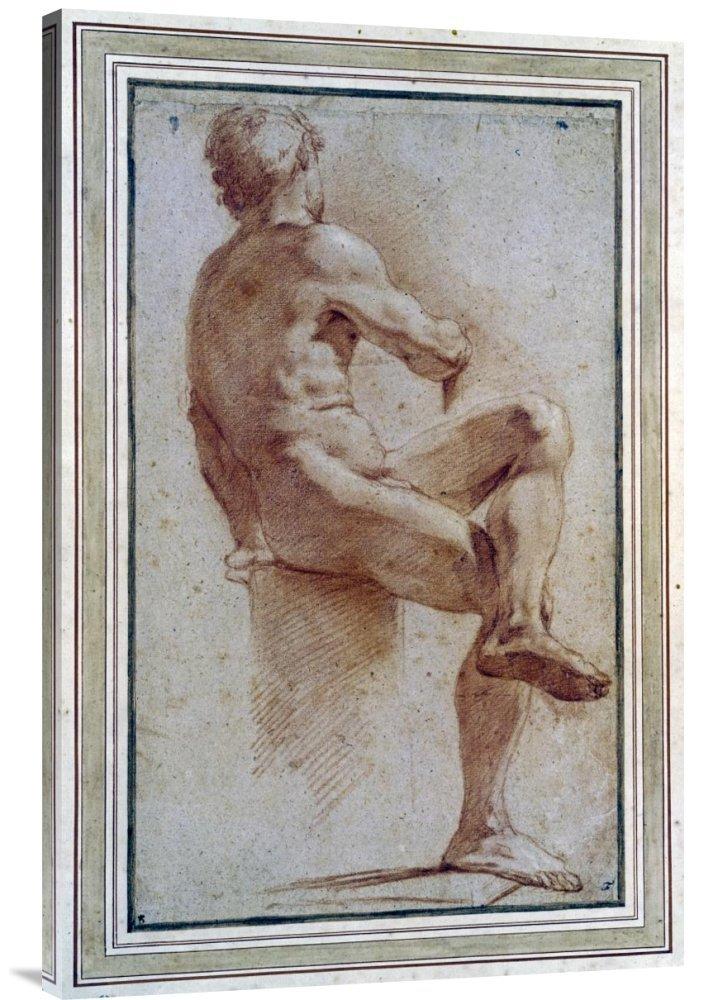 Global Galerie Budget gcs-264675–91,4–360,7 cm Annibale Carracci A Stecker Nude sitzen mit dem Rücken zu gedreht Galerie Wrap Giclée-Kunstdruck auf Leinwand Art Wand B01K1OLTR2 | Qualitativ Hochwertiges Produkt