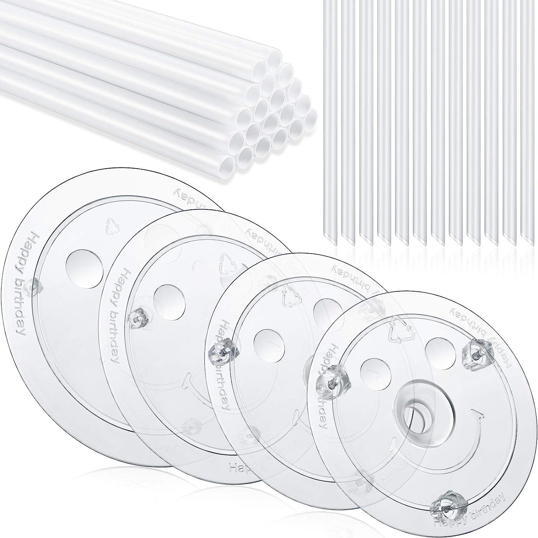 "100 White Plastic Cake Dowels Pillars Stirrers Sticks 38cm poles 6//8//10//12//15/"""