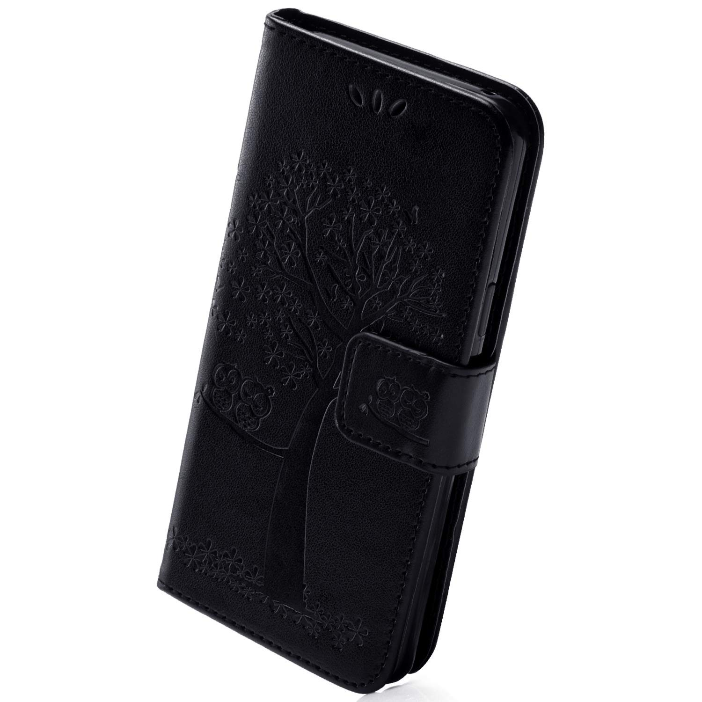 Herbests Kompatibel mit Samsung Galaxy A20e Handy H/ülle Leder Flip Case Cover Vintage Eule Blumen Klapph/ülle Handytasche Leder Tasche Wallet Schutzh/ülle Magnetverschluss St/änder,Gr/ün