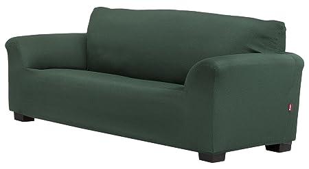 Belmarti Toronto - Funda sofa elástica Patternfit, 3 Plazas, color Verde