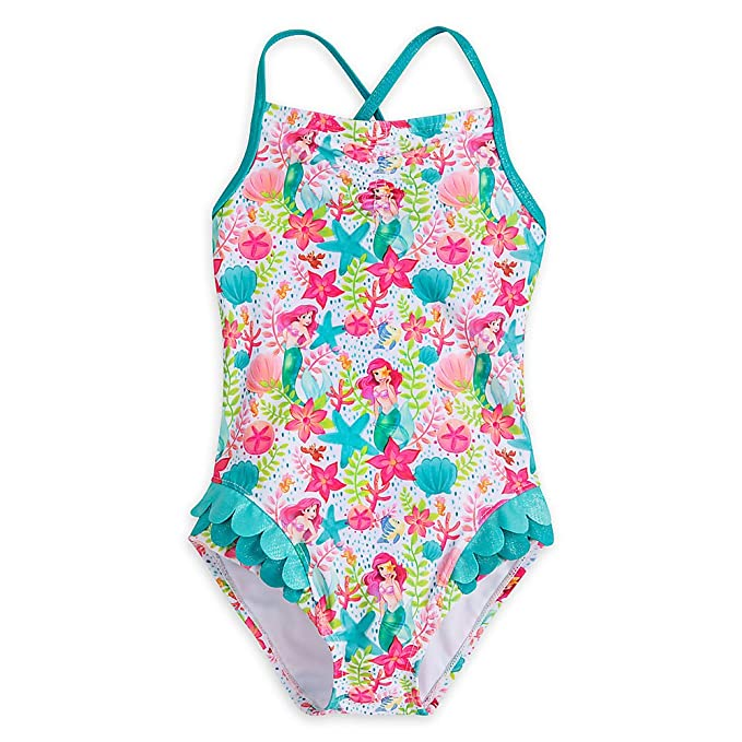 01f7827af0aa9 Amazon.com: Disney Ariel Swimsuit for Girls: Clothing