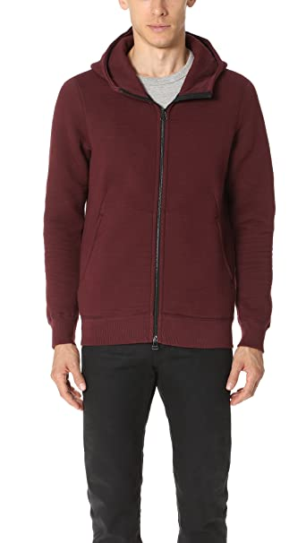 ac5655b67d6 Wings + Horns Men's Cabin Fleece Zip Hoodie, Oxblood, Medium: Amazon ...