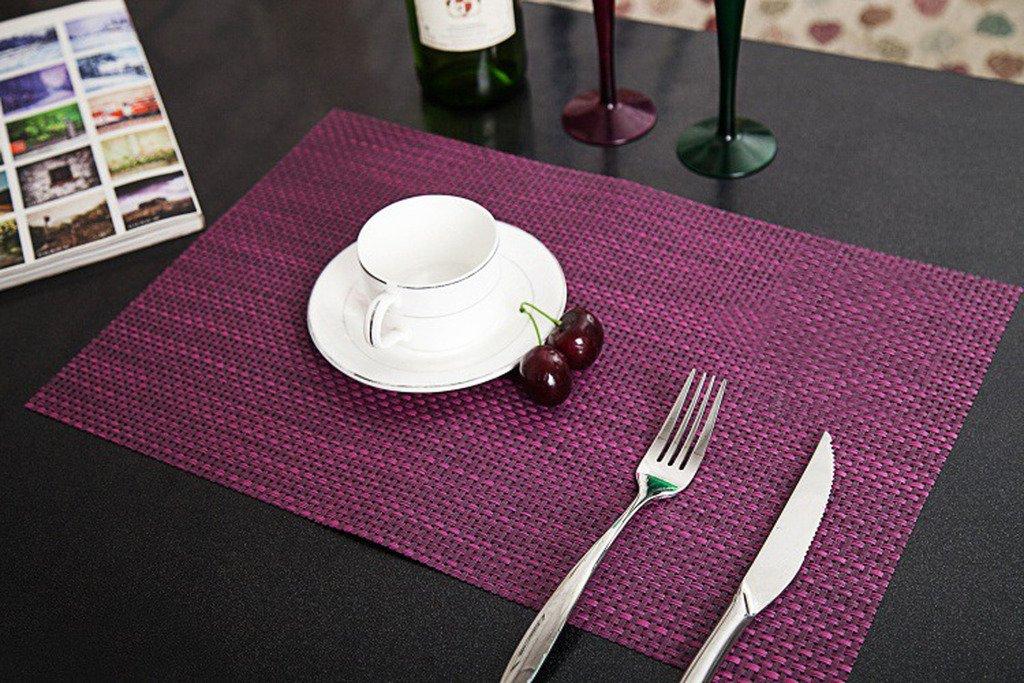 Fieans Moderne Design 4pcs Set Pvc Tischset Platzdecken Platzset