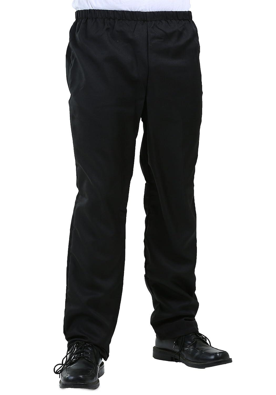 FunCostumes Men's Plain Black Elastic Waist Pants