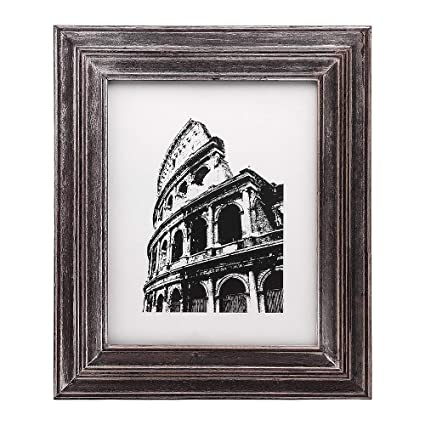 Amazon.com - Afuly Distressed Wood Picture Frame 8x10 Antique Photo ...