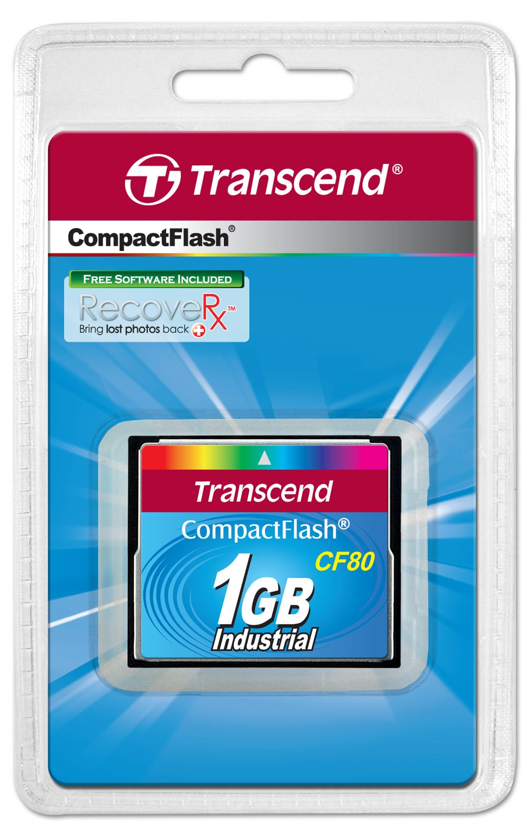 Transcend TS1GCF80 1GB 80x Type I Compact Flash Card by Transcend