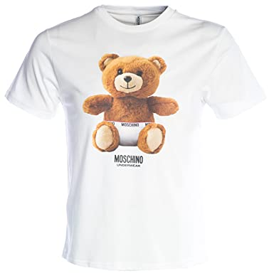7a32af48 Moschino T Shirt Teddy Bear in White: Amazon.co.uk: Clothing