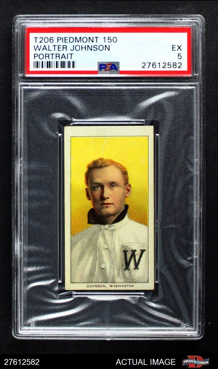 1909 T206 POR Walter Johnson Washington Senators (Baseball Card) (Portrait) PSA 5 - EX Senators 71cnLSTRT0LSL1250_
