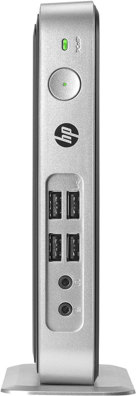 HP 2FU10AT#ABA T310 G2 Zero Client Slimline Desktop, 512MB RAM, 32GB Flash Storage, Black/Silver