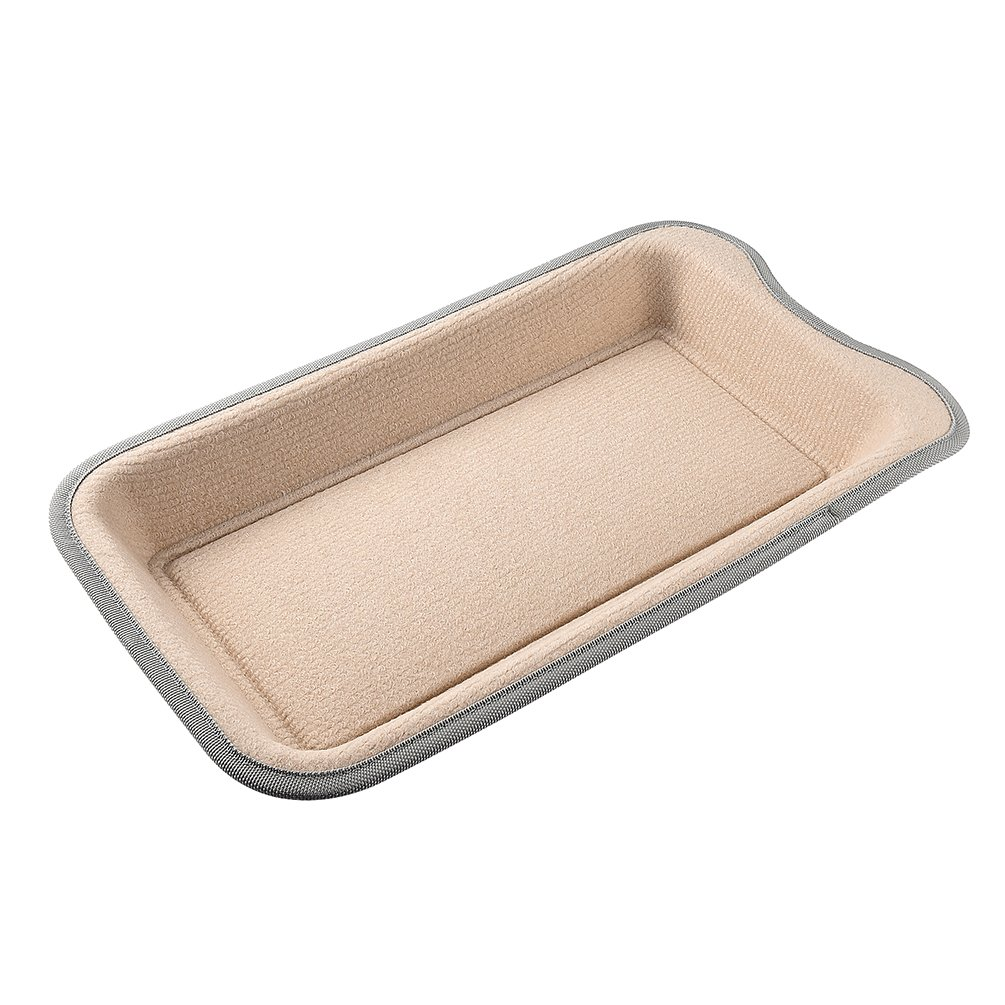 Petacc Cat Scratcher Funny Cat Bed Wear-proof Pet Scratching Toy with Catnip, Beige by Petacc (Image #1)