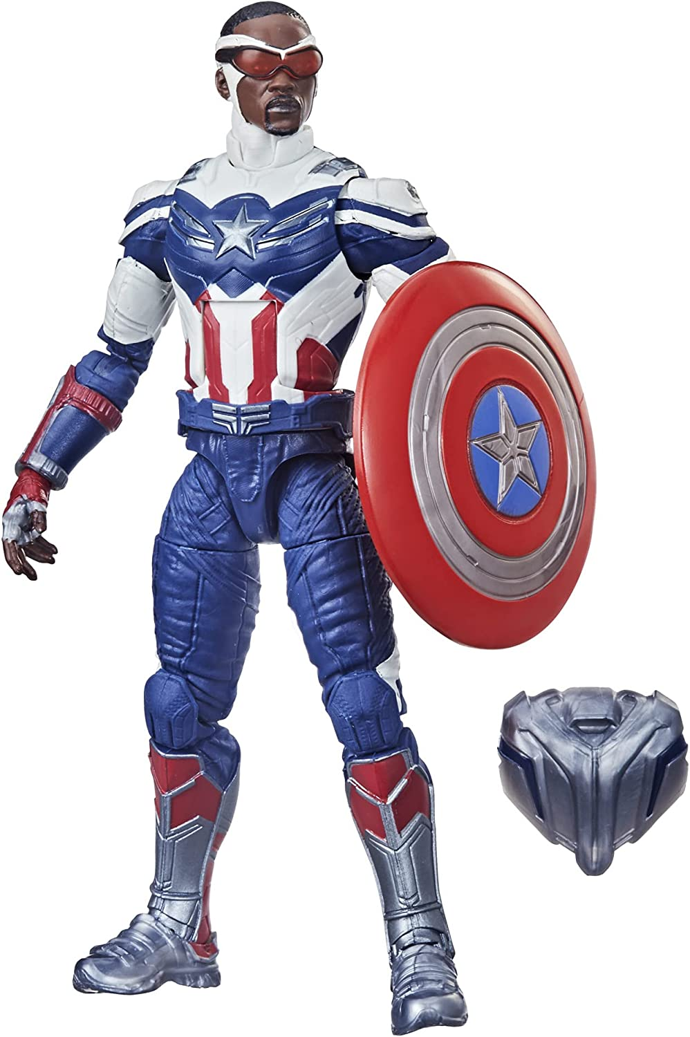 Avengers Hasbro Marvel Legends Series 6-inch Action Figure Toy Captain America: Sam Wilson Premium Design and 2 Accessories, for Kids Age 4 and Up