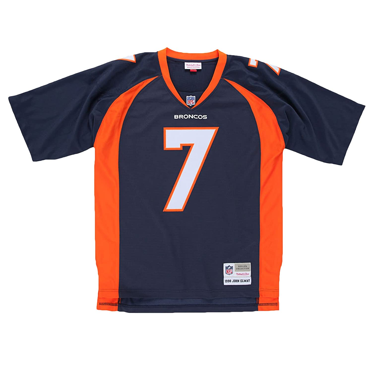 huge selection of e11fe cebce Mitchell & Ness John Elway Denver Broncos Navy Throwback Jersey