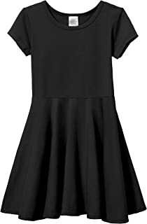 product image for City Threads Girls' Cotton Short Sleeve Skater Party Twirly Dress
