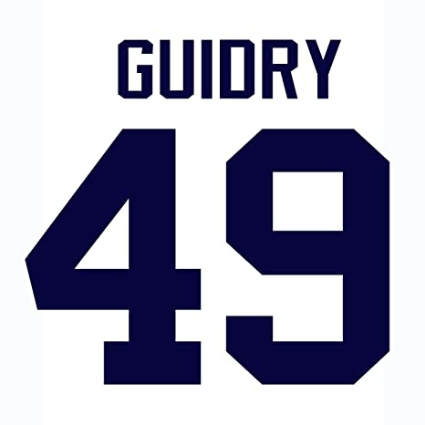 Ron Guidry New York Yankees Jersey Number Kit 7c596213667