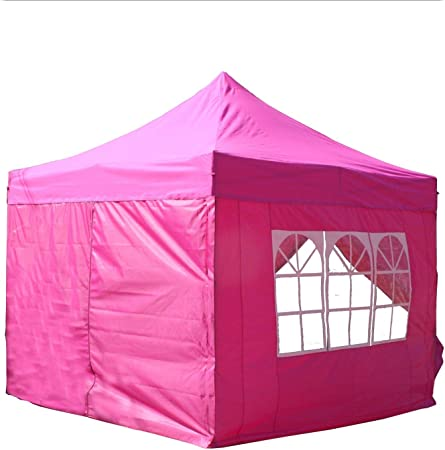 Heavy Duty Waterproof Garden Outdoor Pop Up 4-Sides Gazebo Party Tent with Bag