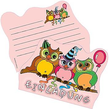 6 Einladungskarten * SÜSSE EULEN * Für Kindergeburtstag Und Party Von  DEKOSPASS // Kinder Geburtstag