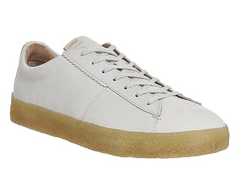 Pointer - Zapatillas de Piel para Mujer Blanco Off White Leather Crepe Sole: Amazon.es: Zapatos y complementos