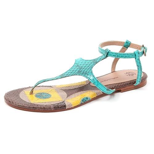 1767a51f46 B4966 infradito donna MALIPARMI GEOMETRIC WHIPS sandalo turchese ...
