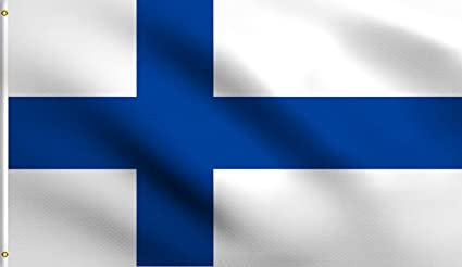 Large 3/' x 5/' High Quality 100/% Polyester Finland Flag Free Shipping