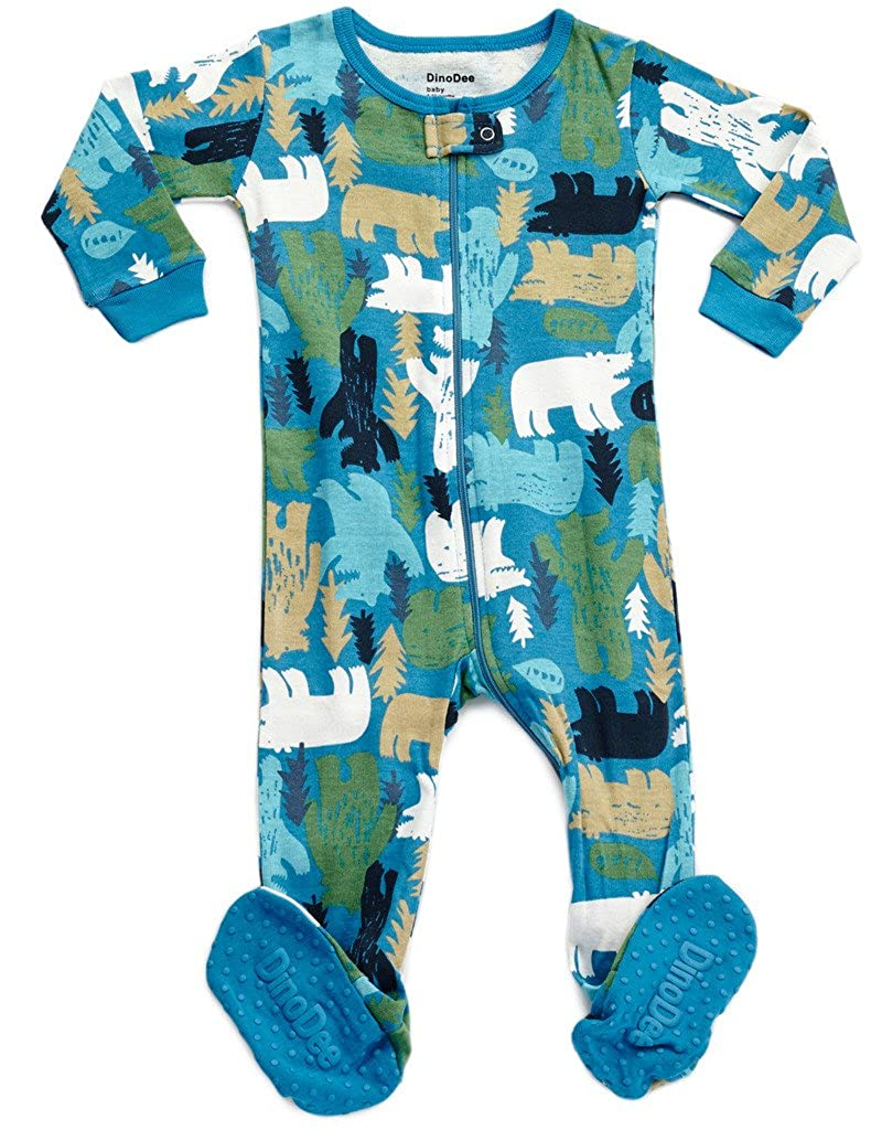 2db6d1327b DinoDee Baby Boys Girls Footed Pajamas Sleeper 100% Cotton Kids Pjs (6  Months-5 Toddler)
