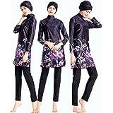 4409056e57a ziyimaoyi Flower Conservative Women Swimsuits Ladies Muslim Swimwear Modest  Islamic Bathing Swimming Suit Beachwear