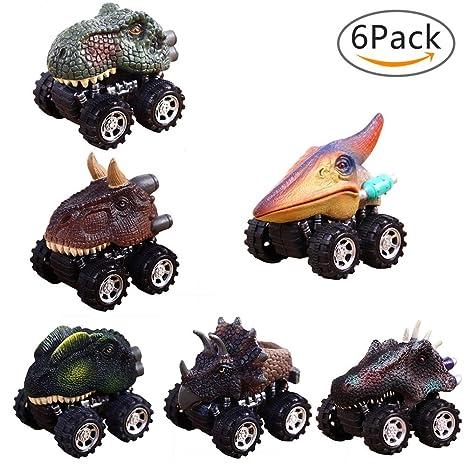 KOBWA del neumático 6Pack de la Rueda del Tirar Coches Grandes del Dinosaurio