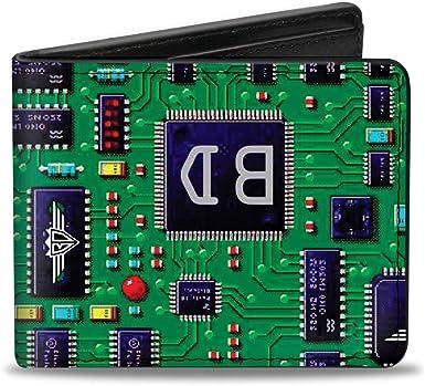 Buckle-Down Circuit Board Bi Fold Wallet