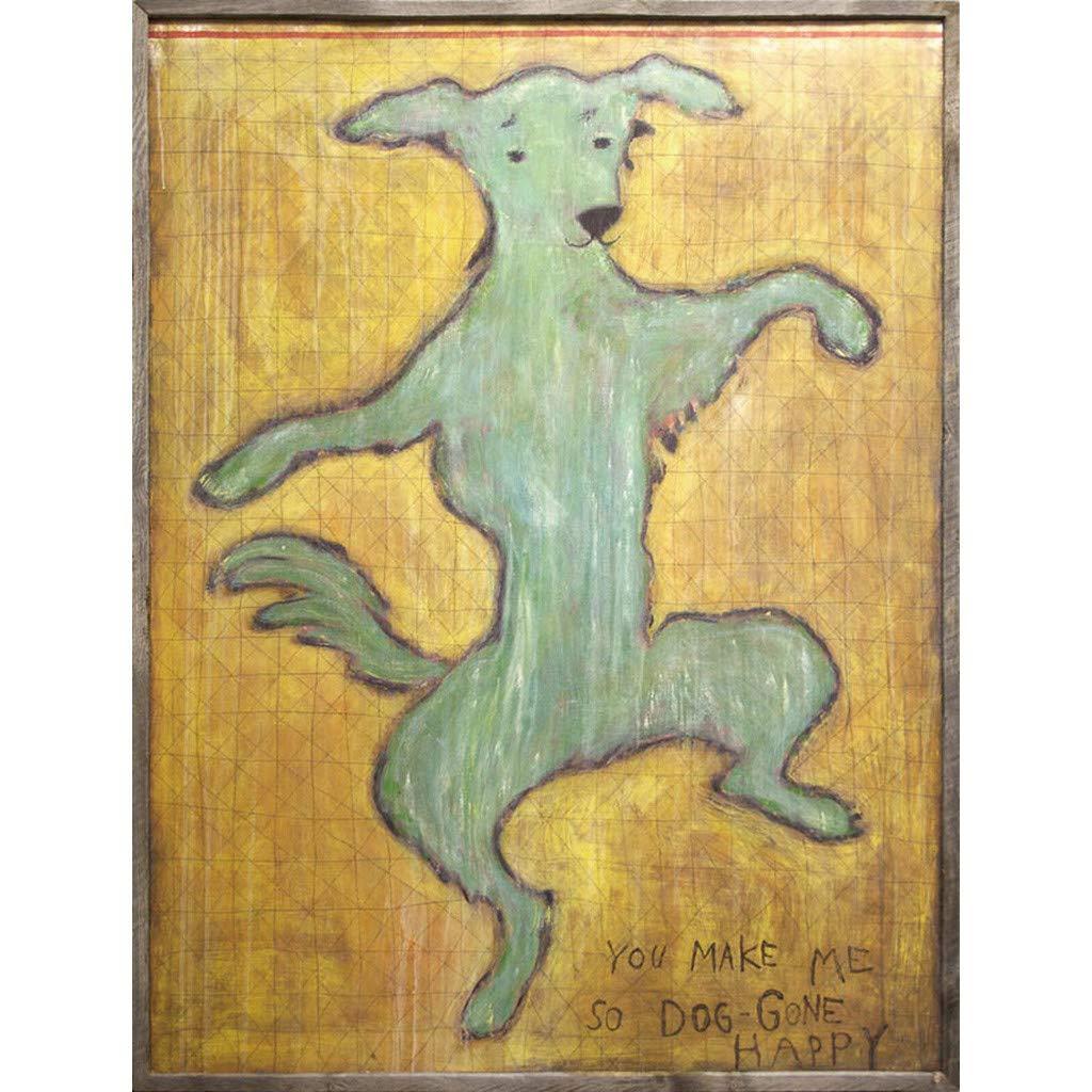 SPICE OF LIFE 絵画 アートパネル 「Dancing Dog」 SUGARBOO DESIGNS 犬 88×7×118cm シュガーブー 正規品 AP179-3x4   B074K9JXNB