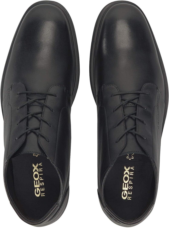 GEOX U Dublin Botines//Low Boots Hombres Negro Botas de ca/ña Baja