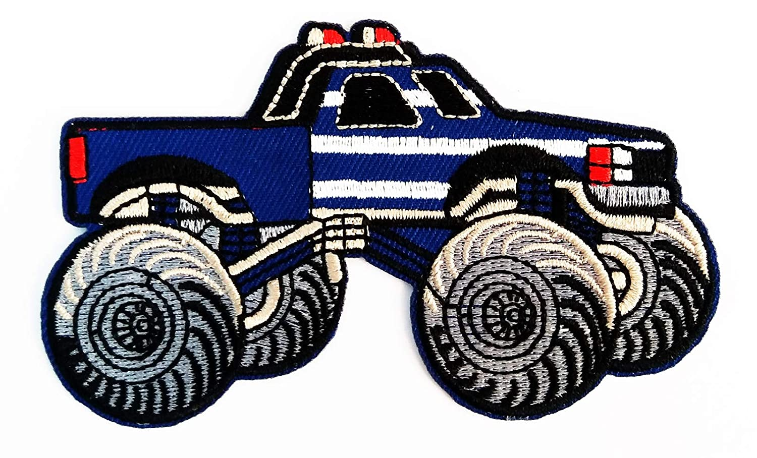 Car Classic Old Blue Vintage Hot Rod Monster Truck Cartoon 3 75x2 25 In Megadee Patch Badge Motogp Racing Vintage Classic Biker Racer Club Sew Iron On Logo Embroidered Car Cartoon 020 Amazon In Home