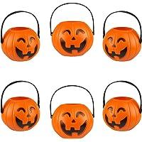 Kesote Pompoen emmer voor Halloween, 6 stuks