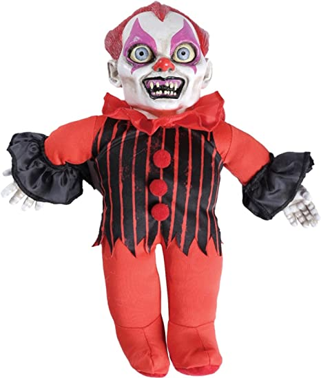 SCARY Talking Haunted Doll Prop Sound Activated Halloween Party Decoration