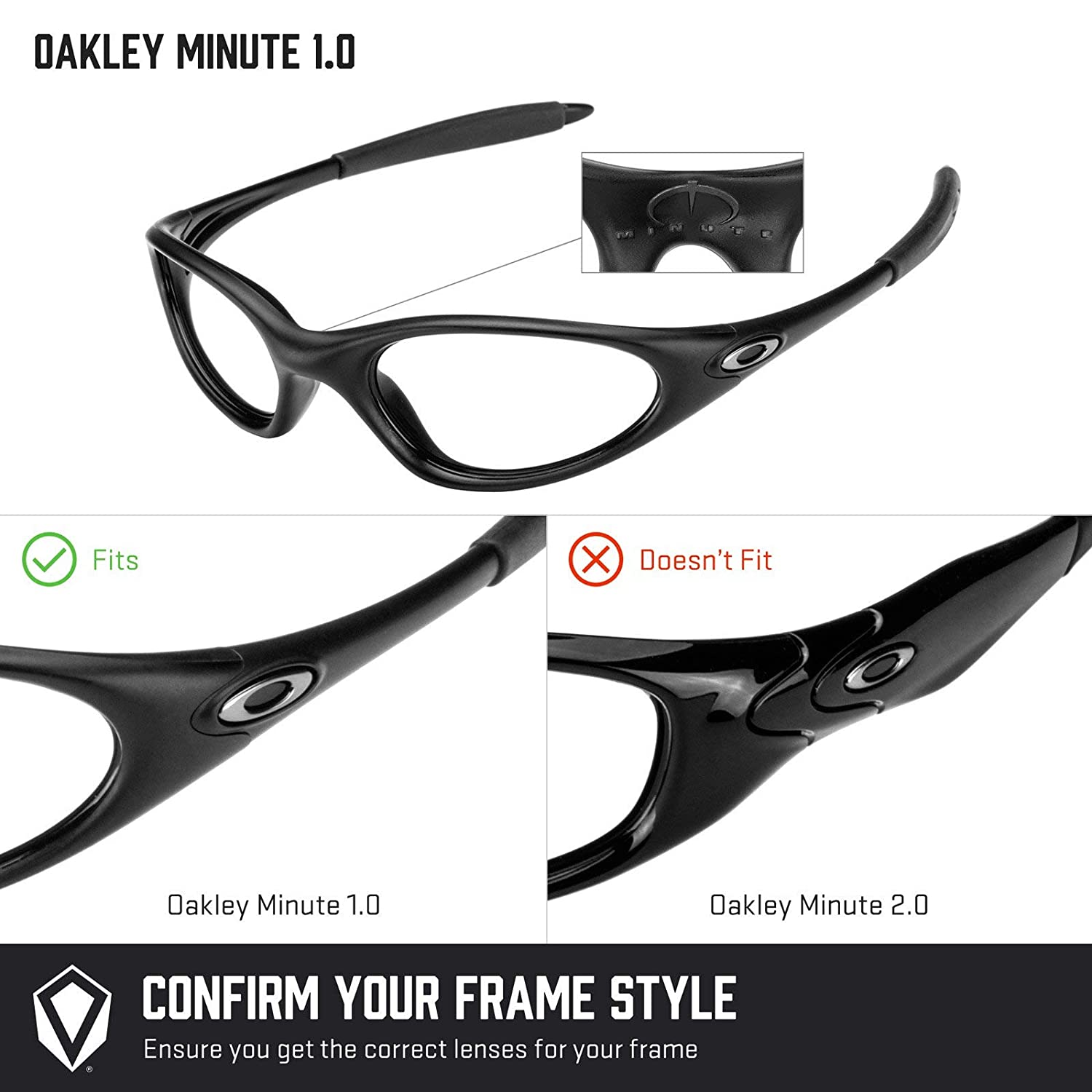 b736ba54ff5 Revant Replacement Lenses for Oakley Minute 1.0 Elite Adapt Grey  Photochromic  Amazon.co.uk  Clothing