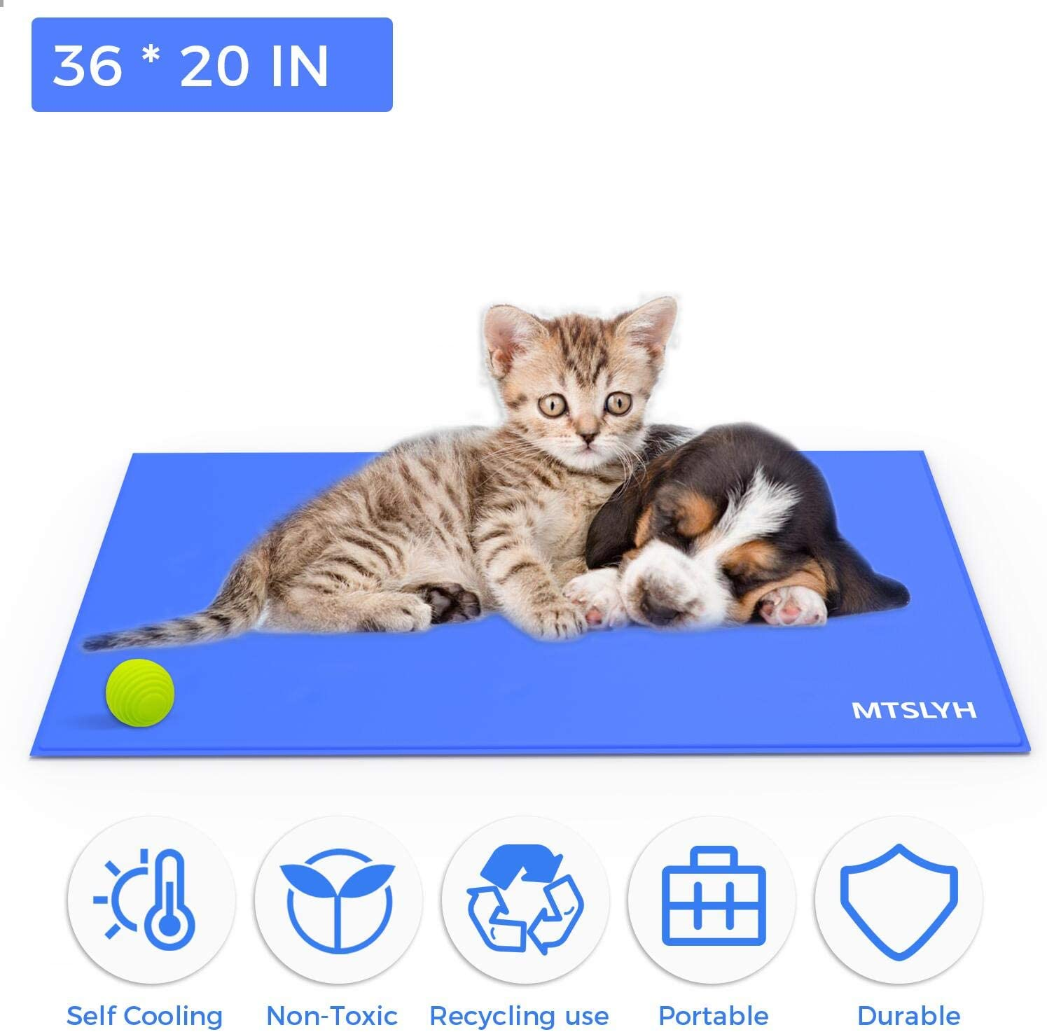 36 X 20 Dog Self Cooling Mat Cooling Mat for Dog Dog Cool Pad Pet Ice Mat Pet Pad for Crates Yerloa Pet Cooling Mat and 38 X 32 96 * 81cm large 90 * 50cm Kennels and Beds