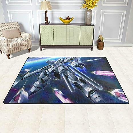 Amazon Com Angela R Mathews Gundam V Gundam Non Slip Carpet Area Rug Modern Flannel Microfiber Anime Cartoon Rectangle Carpet Decor Floor Rug Living Room Bedroom Study Floor Mat 6 X 4 Home Kitchen