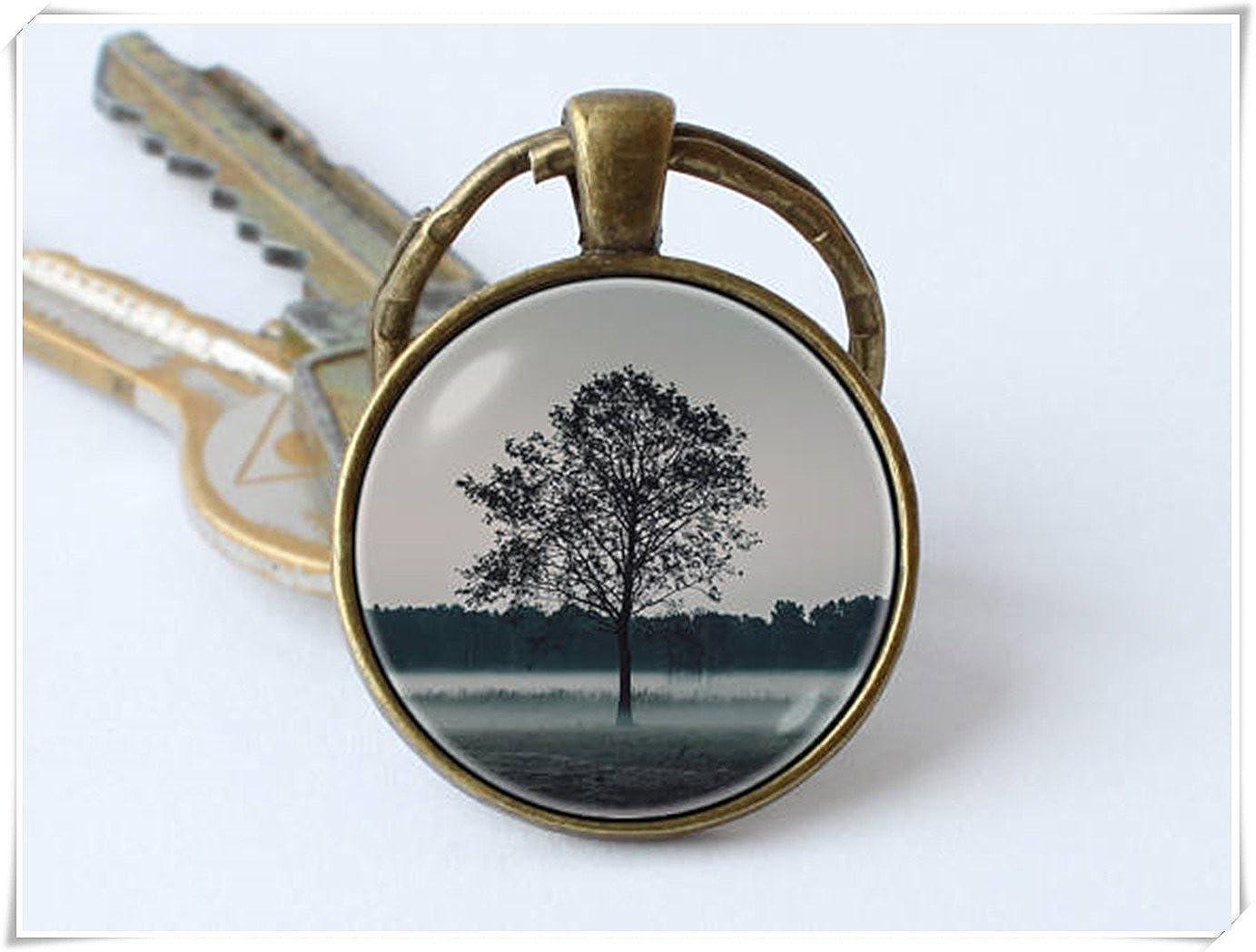Árbol Arte Llavero, llavero, colgante, diseño de árbol de joyas ...