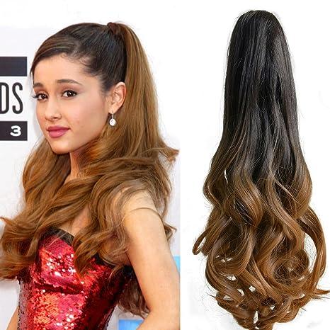 Neverland Beauty 50cm Extensión de cabello, cola de caballo, Peluca Cola de Caballo ondulada