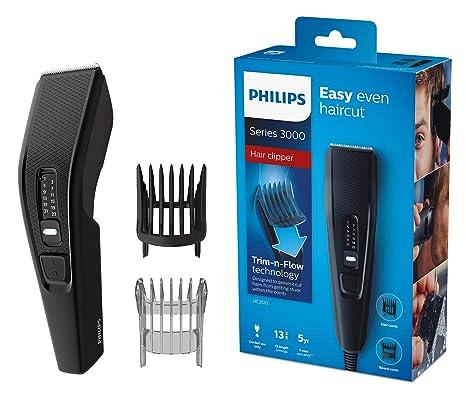 Philips HAIRCLIPPER Series 3000 Cortapelos HC3510 15 - Afeitadora (Negro 239232983379