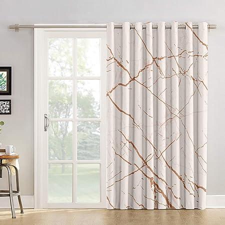 Cortinas de cocina con diseño de ciervo en el bosque, cortina de tela para puerta corredera de cristal o patio: Amazon.es: Hogar